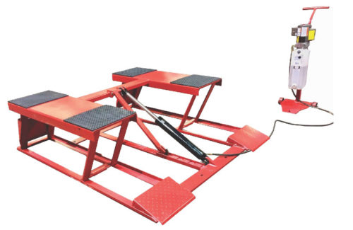 Low Rider Portable Hinged Scissor Lift 6,000 LB. (2.7T)